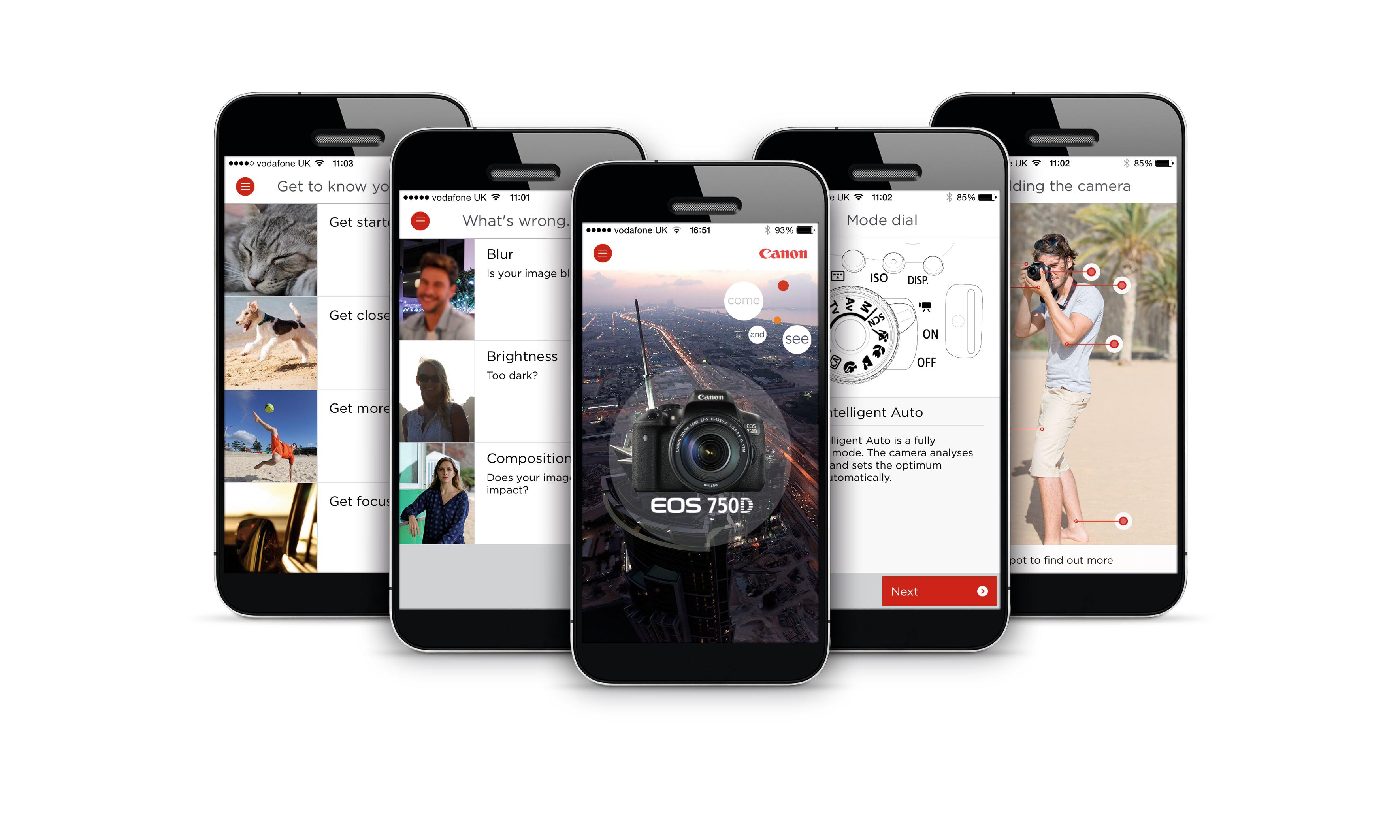 Aplikace Canon 750D